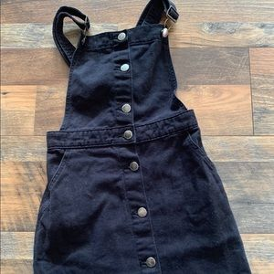 Black Divided overall dress